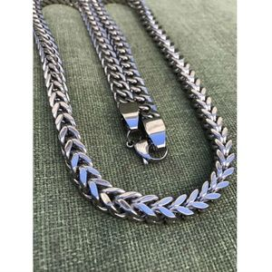 Harlembling 14k Gold Stainless Steel Silver Chain
